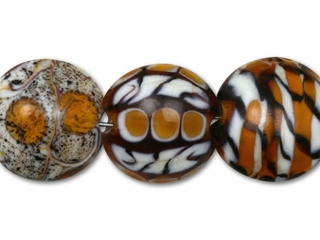 Animal Print Mix Round Beads (7PCS)